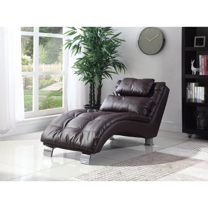 Ultimate Relaxing Modern Dark Brown Chaise