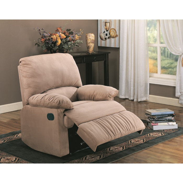 Flamboyant Contemporary Style Light Brown recliner