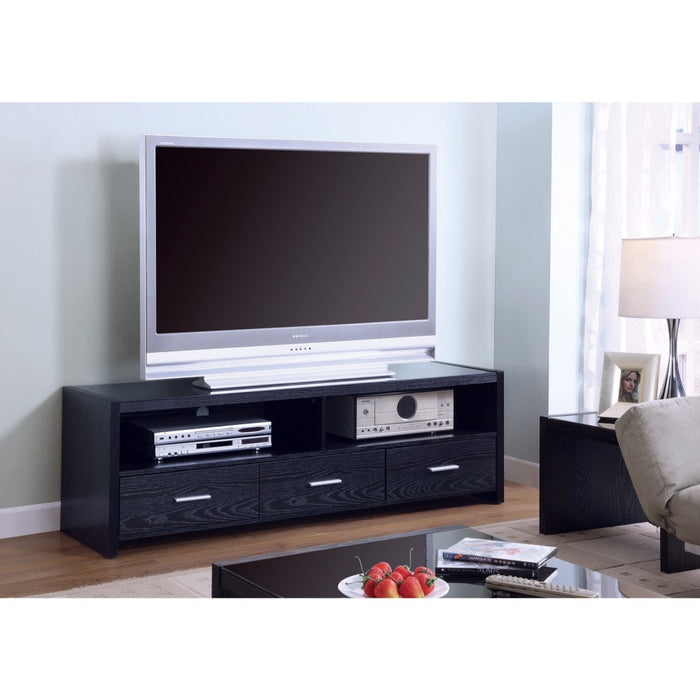 Mesmerizing black TV console With Storage