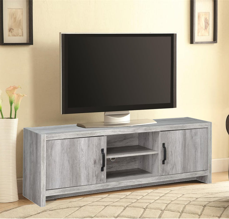 Marvelous driftwood tv console, Gray