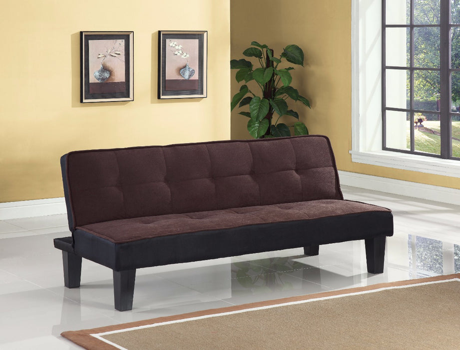 Flannel Fabric Adjustable Sofa, Chocolate Brown