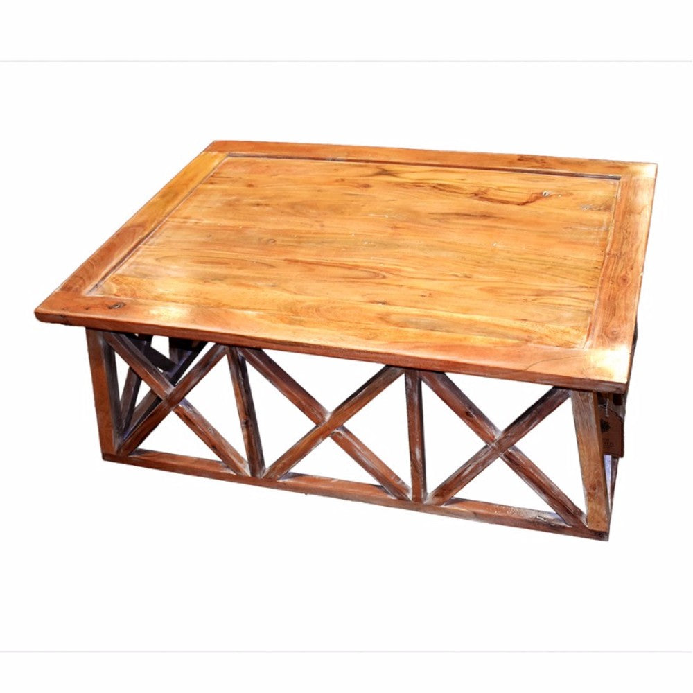 Fine-Looking Wooden Coffee Table, Brown