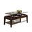 Innovative Coffee Table with Lift Top, Walnut Brown