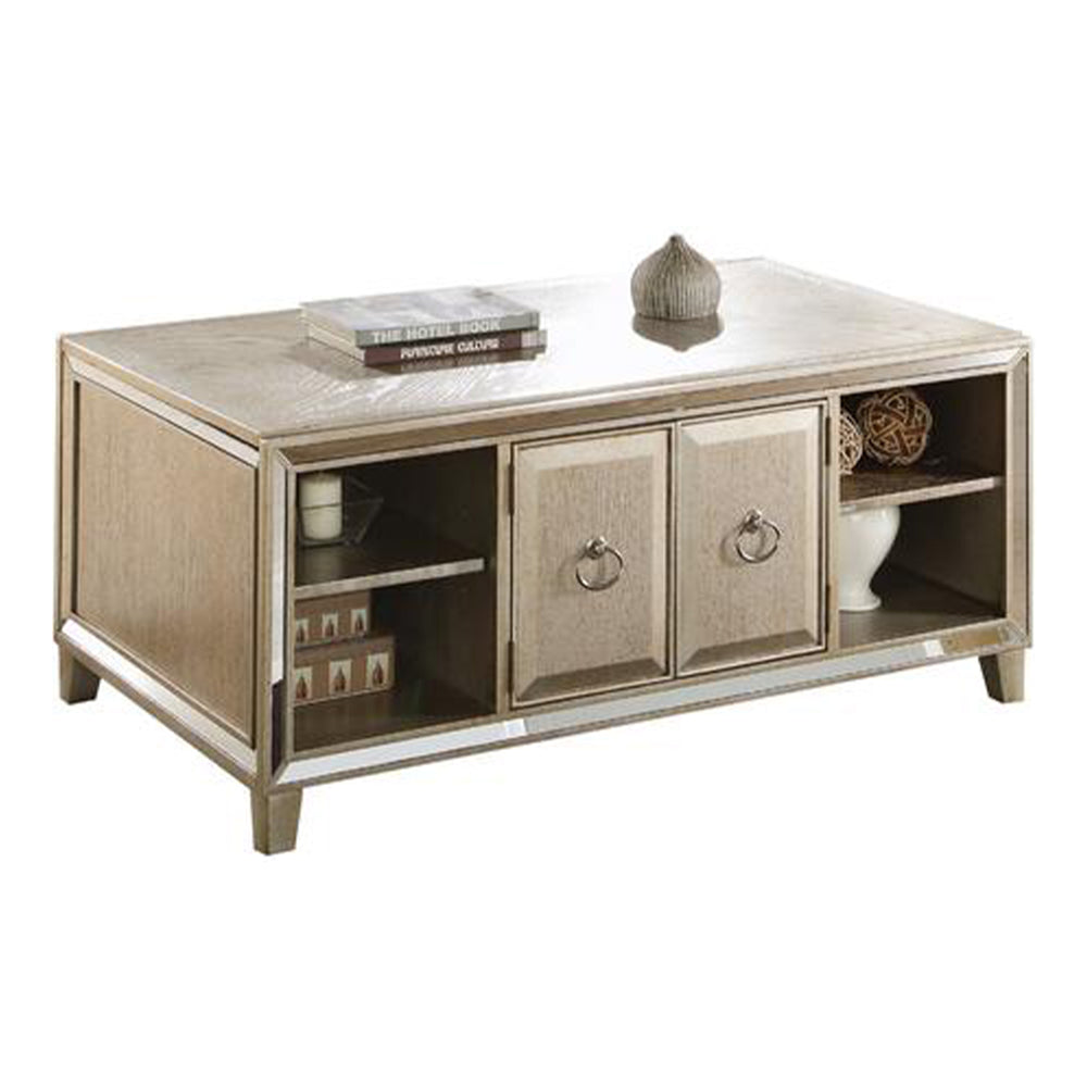 Spacious Coffee Table with Lift Top, Gold