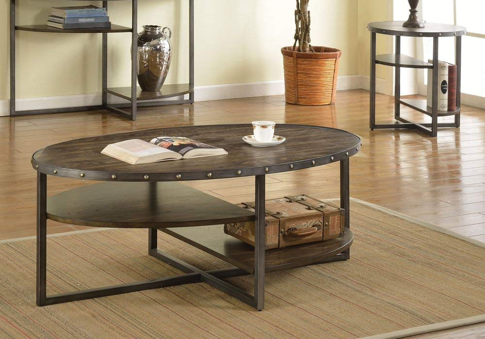 Trendy Coffee Table, Weathered Dark Oak