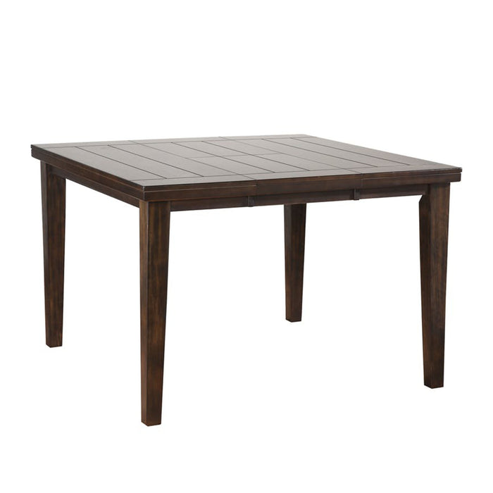 Urbane Counter Height Table With Square Top, Espresso Brown