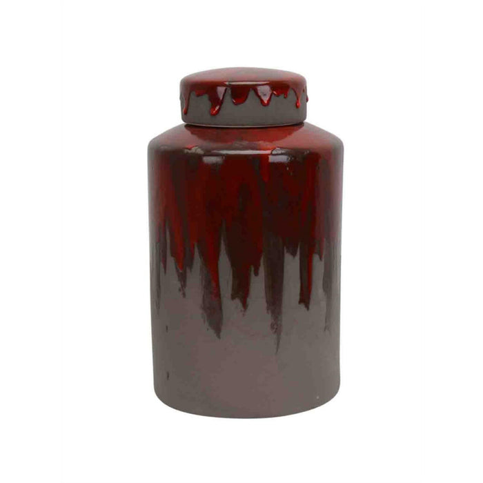 Dripping Fantasy Lidded Jar, Multicolor