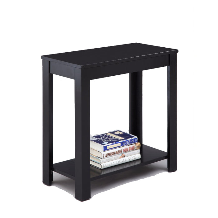 Minimalistic  designed Wooden Chairside Table, Black