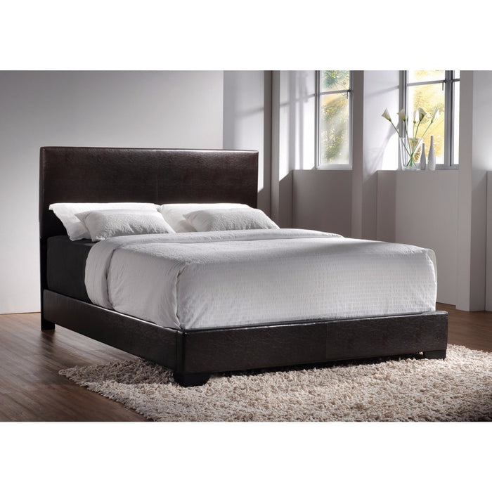 Sophisticated Queen Upholstered Bed, Brown