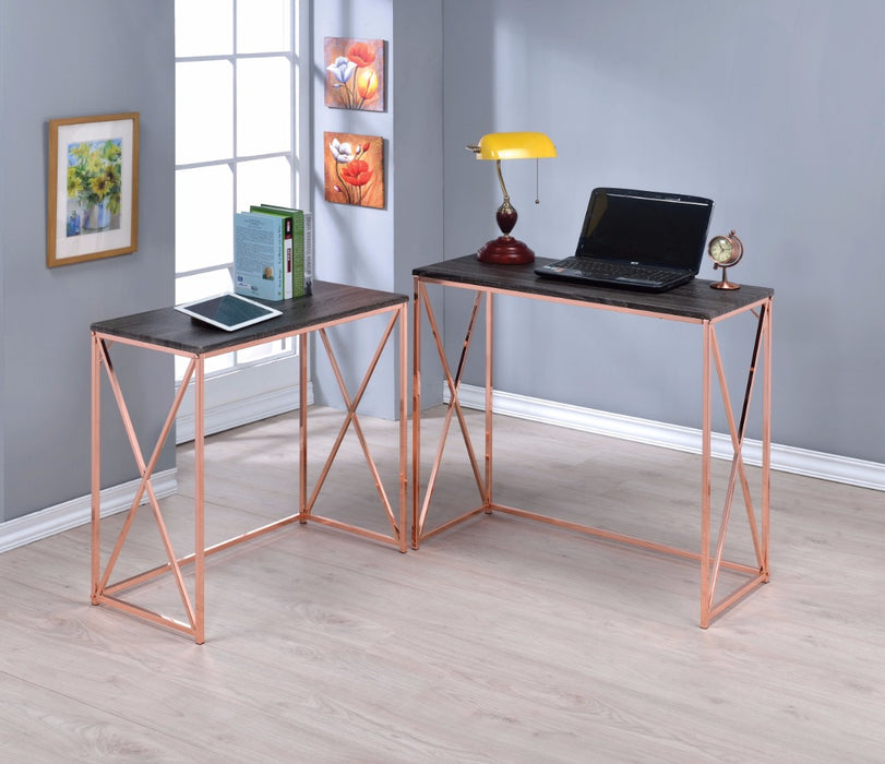 Desk Set Comprising 2 pieces, Weathered Dark Gray & Copper