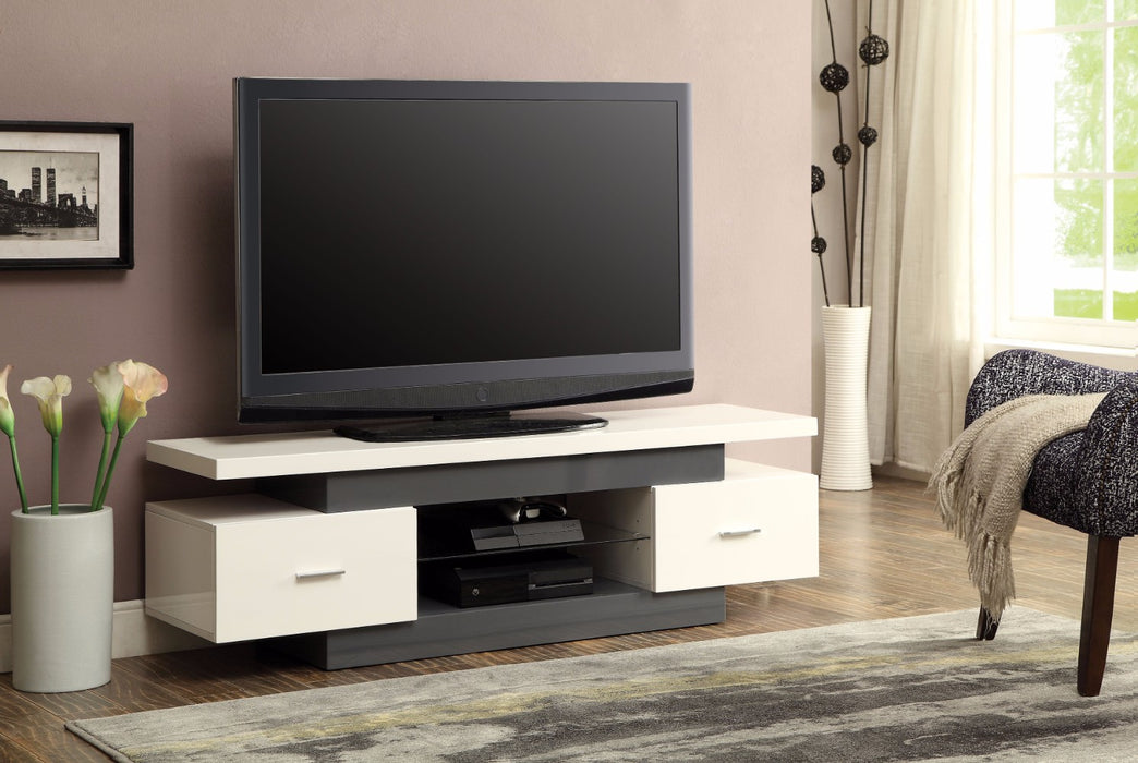 Stylish TV Stand, White & Gray