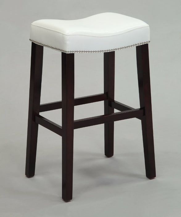 Elegant Counter Height Stool (Set-2), White & Espresso
