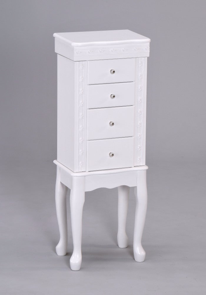 Classy Jewelry Armoire, White