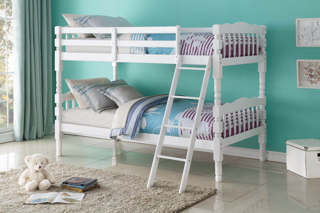 Homestead Twin/Twin Bunk Bed, White