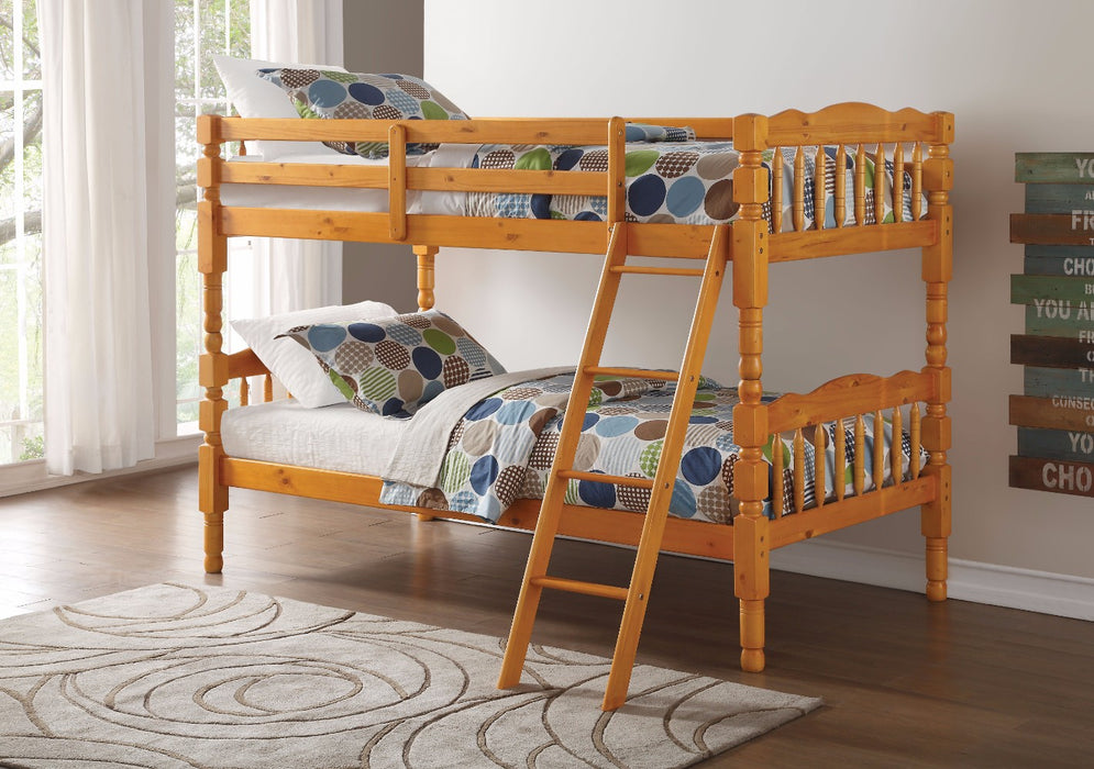 Homestead Twin/Twin Bunk Bed, Honey Oak
