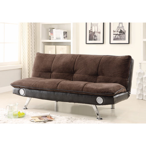 Retro Chick Sofa Bed with speakers, Brown
