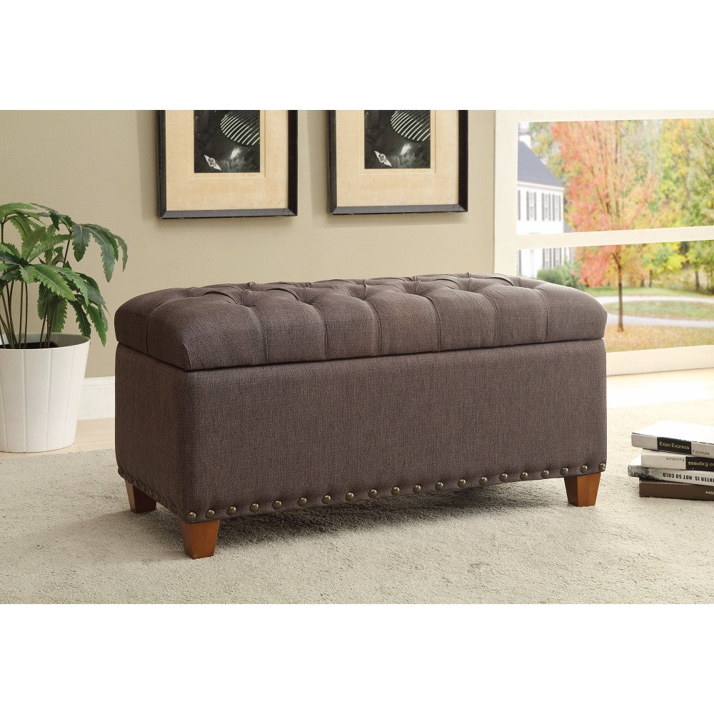Storage Efficient Bench, Mocha Brown