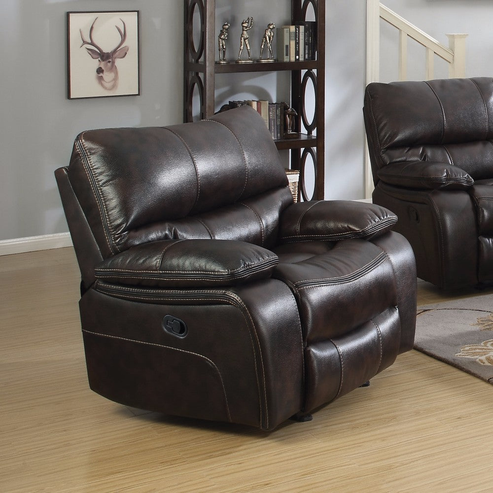 Supremely Relaxing Glider Recliner Chair, Brown