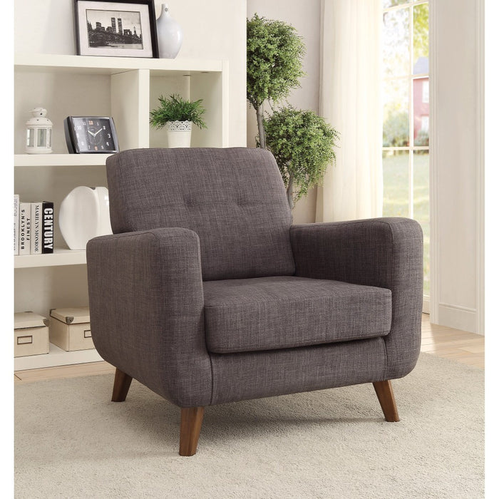 Rustic and Straightforward Accent Chair, Gray