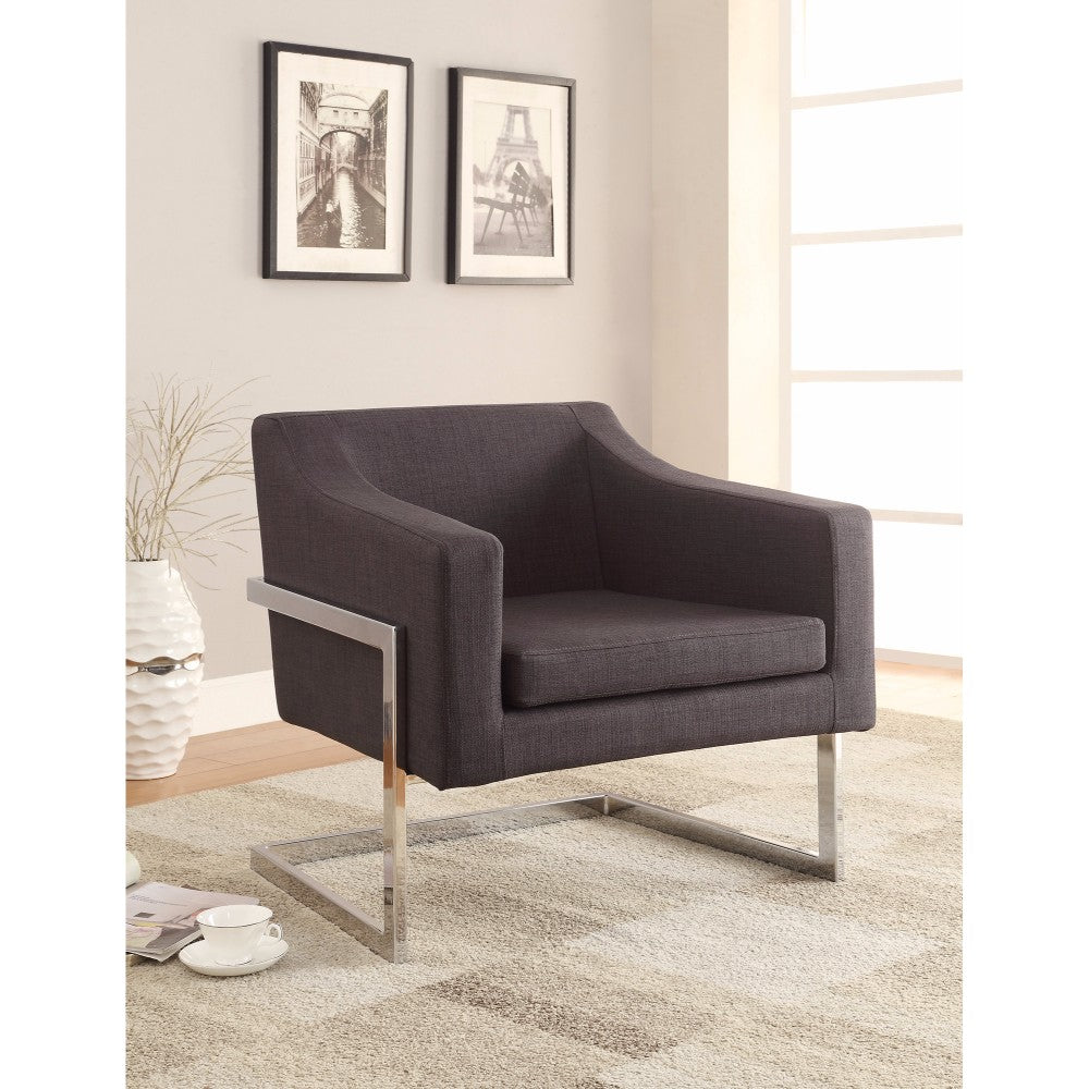 Dapperly Styled Accent Chair, Gray