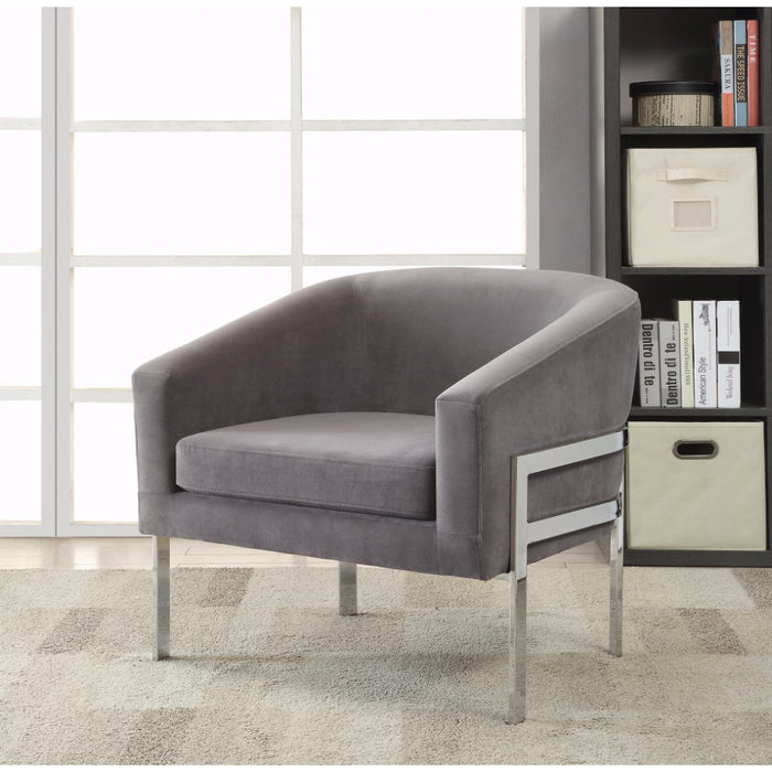 Significantly Contemporary Accent Chair, Gray