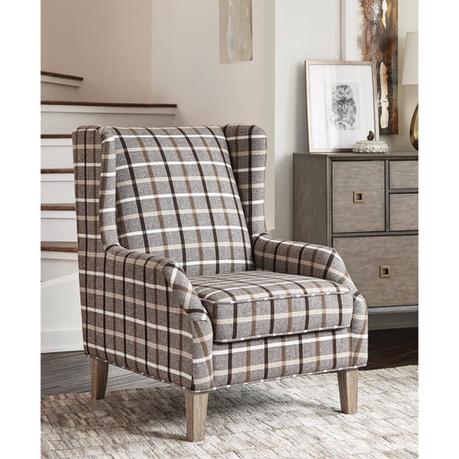 Vintage Inspired Accent Chair, Gray/White