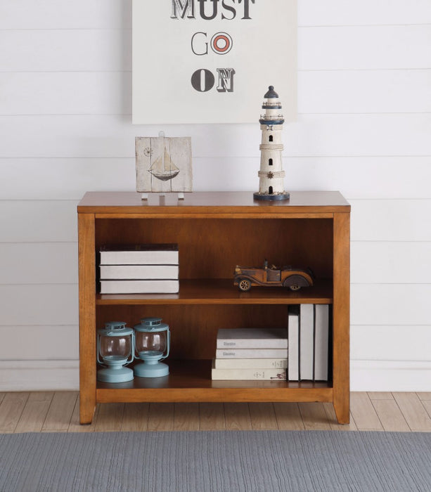 Simple Looking Wooden Bookcase, Cherry Oak Brown