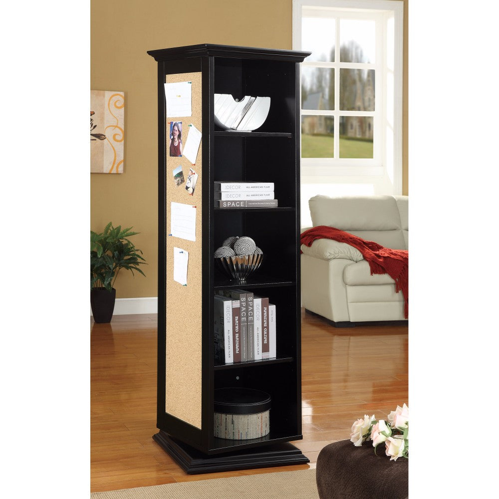 Traditional Style Wooden Accent Cabinet, Black