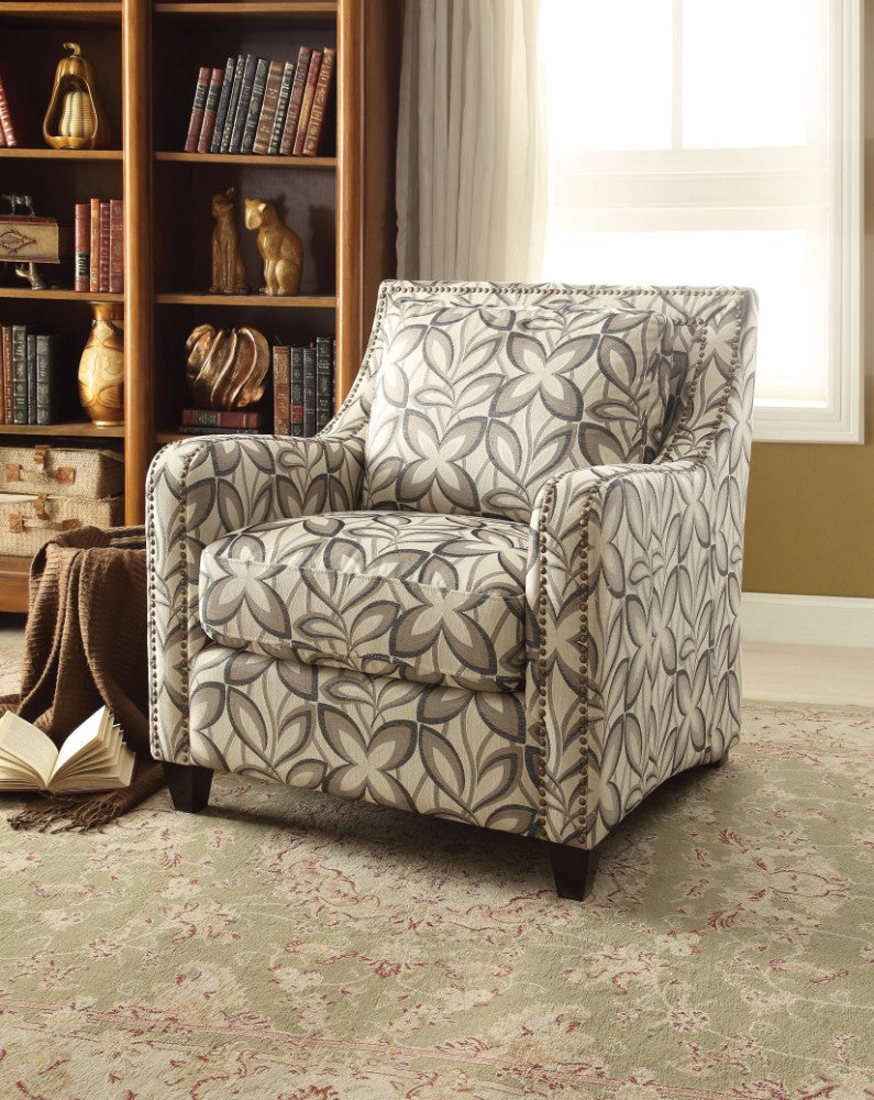 Floral Print Fabric Chair, Multicolor