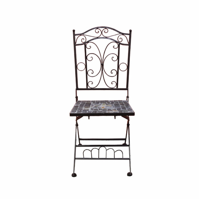 Mosaic/Metal Garden Chair, Brown