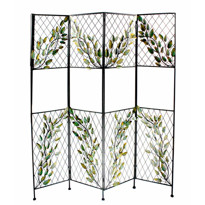 Metal Screen With Leaves, Multicolor