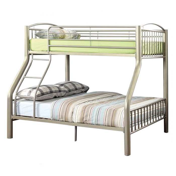 Metal Twin/Full Bunk Bed, Gold