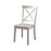 Wooden Armless Side chair, White, Pack of 2