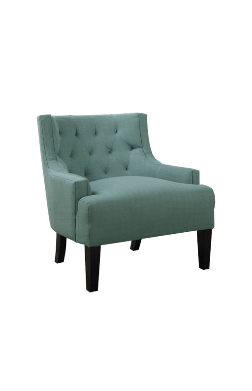 Wood & PolyFiber Accent Chair, Light Blue