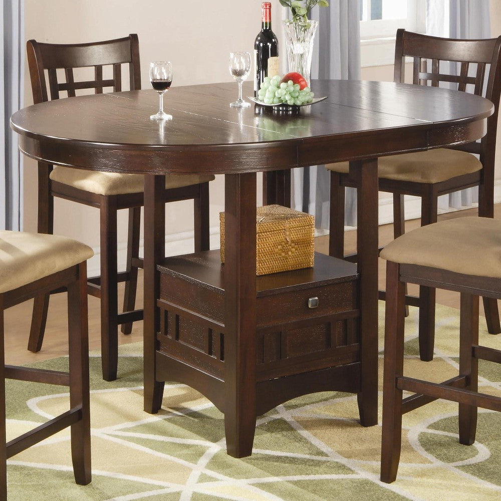 Counter Height Dining Table, Warm Brown