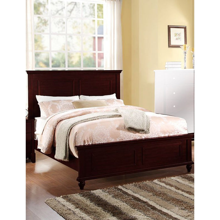 Wooden E.King Bed, Dark Cherry