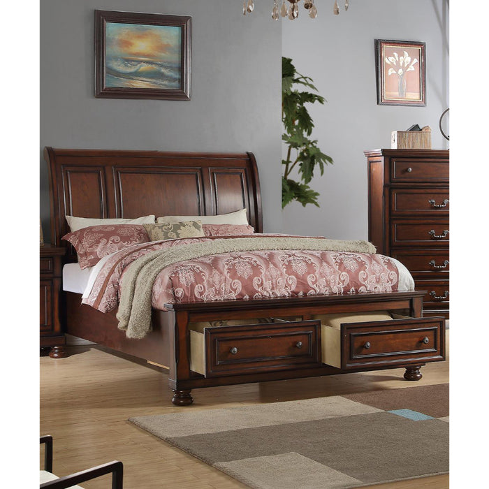 C.King Bed, Cherry Finish