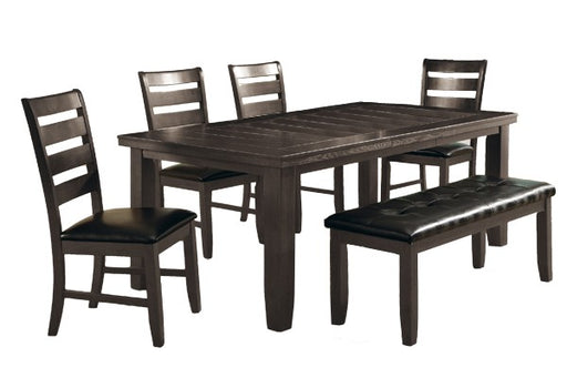 Wooden Dining Table With Butterfly Leaf, Gray