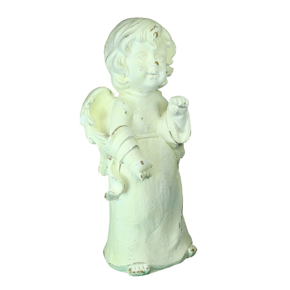 Standing Angle Figurine In Polyresin, Cream