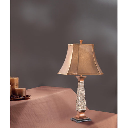 Stylish Resin Table Lamp Set Of 2 Bronze