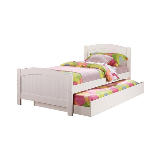 Twin Bed With Trundle,White