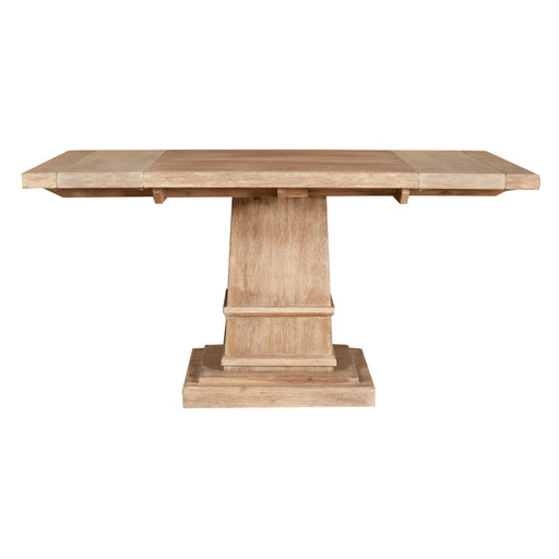 Wooden Square Extension Dining Table, Stone Wash Brown