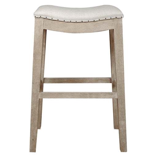 Upholstered Barstool, Stone Wash Brown