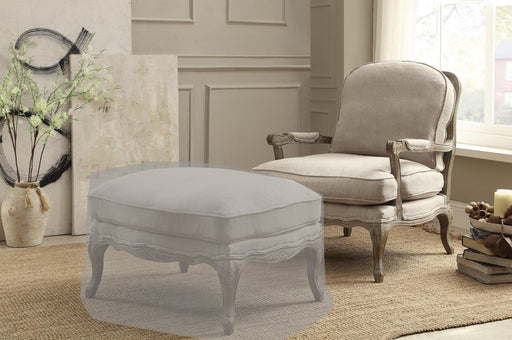 Wooden Accent Chair With Reversible Cushion Seat In Beige