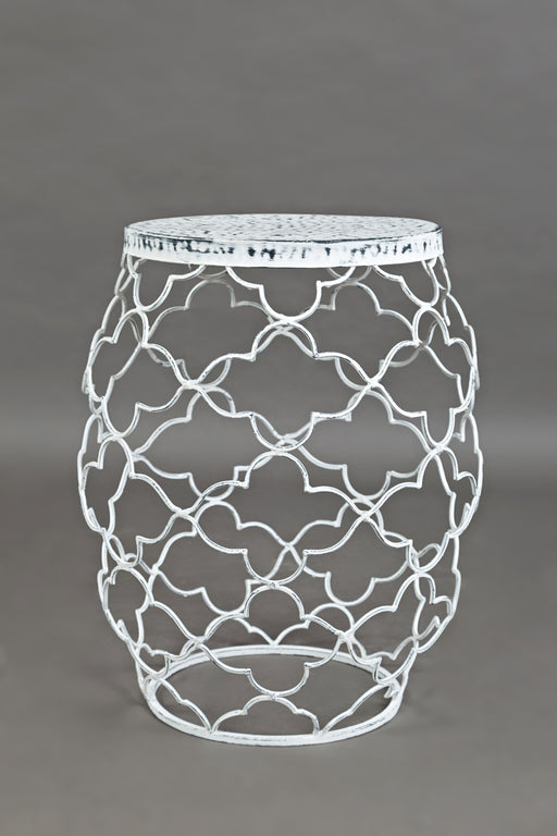 Metal Multi-Dimensional Accent Table, White