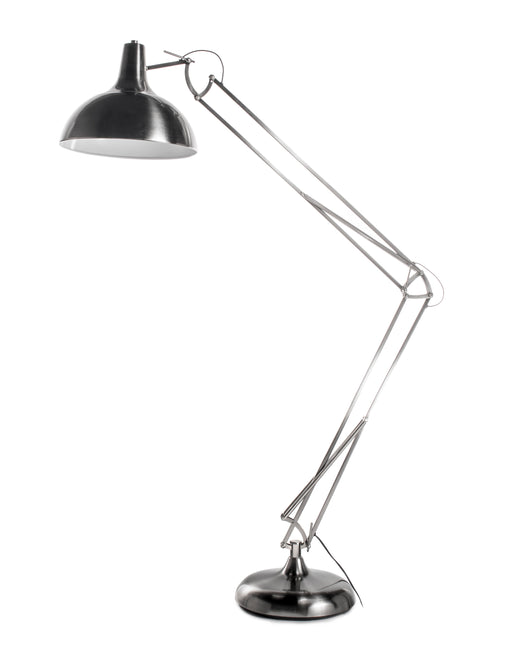 Metal Task Floor Lamp with Full Adjustable Function, Silver