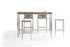 Whiteline Modern Living - Stone Stainless Steel Rope Bar Stool - UNQFurniture