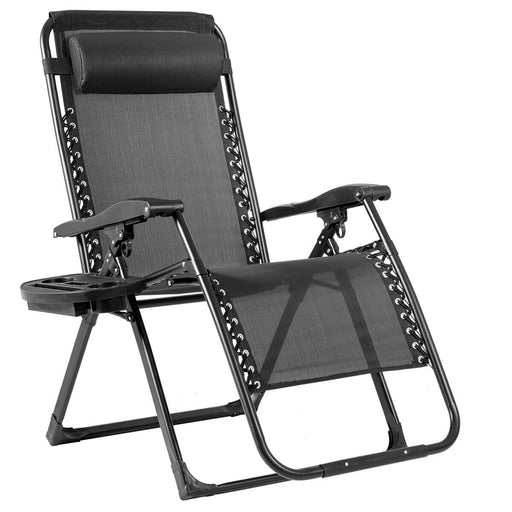 Oversize Lounge Chair Patio Heavy Duty Folding Recliner