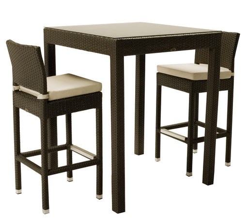 Feruci - Classic Miami Outdoor Patio Bar Table w/ Bar Stools - UNQFurniture