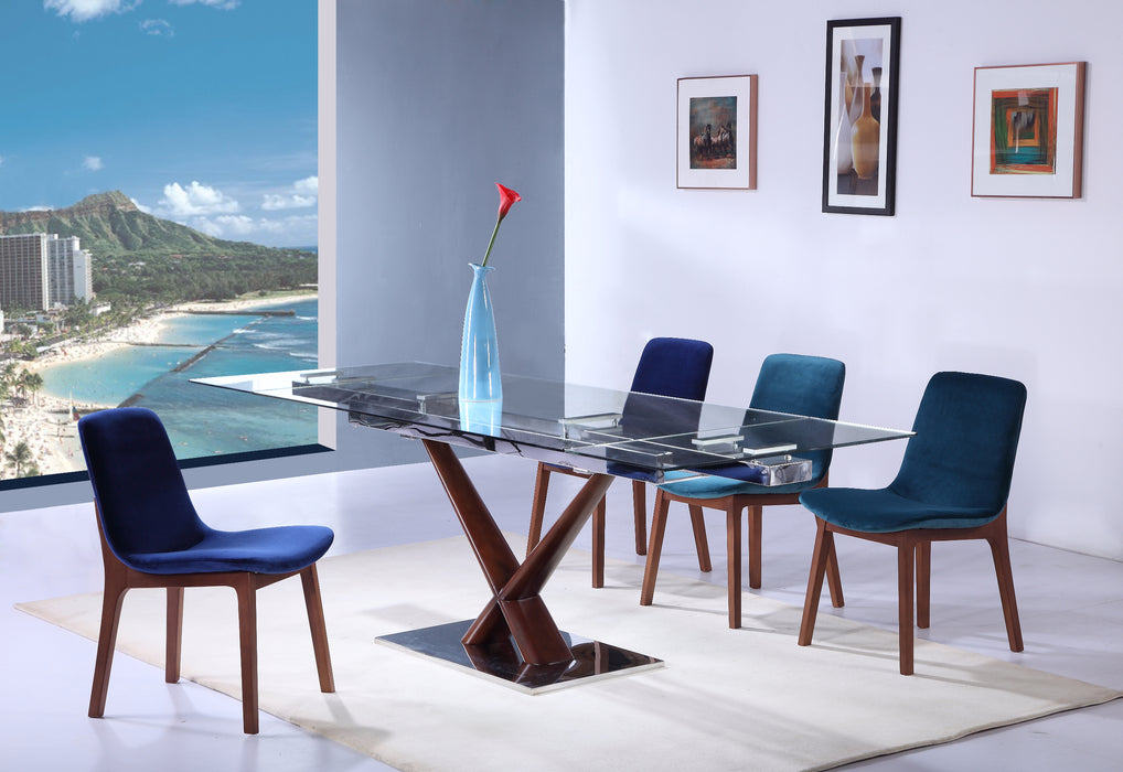 Whiteline Modern Living - Celeste Extendable Dining Table - UNQFurniture